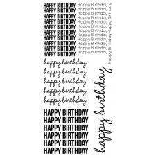Kaisercraft Clear Stickers - Happy Birthday ST922 Very Large Stickers